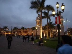 Plaza Mayor by night, Lima. Photo by Matt Barker.