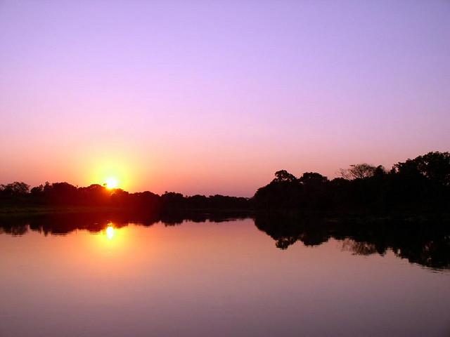 Pantanal sunset, Brazil