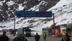 The border crossing between Santiago, Chile, and Mendoza, Argentina, up and over Mt. Aconcagua (the highest peak in the western hemisphere) is one of the most scenic in South America.