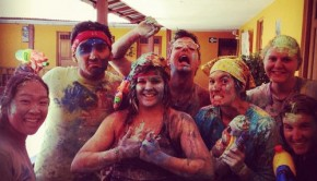 Latin America for Less employee, Katherine Krieger, after a paint-water fight at Carnival