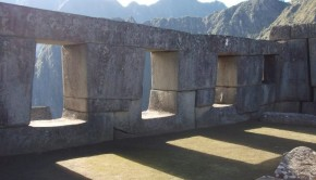 The amazing Temple of Three Windows in Machu Picchu, with huge stones that fit together like puzzle pieces, is a great example of precision Inca architecture.
