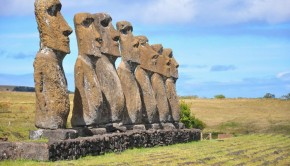 The Moai Statues in Easter Island