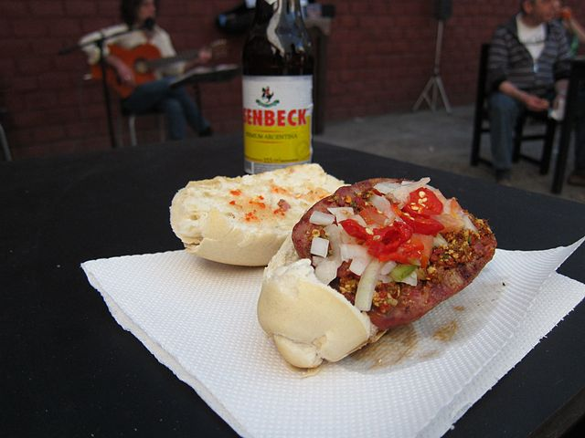 Beer and Sausage in Argentina