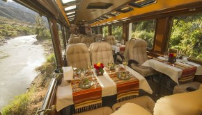 riding first class with Inca Rail to Machu Picchu