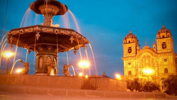 the Plaza de Armas in Cusco, Peru