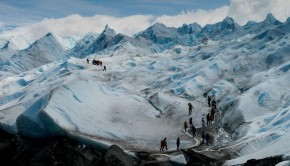 walking on the Perito Moreno Glacier near El Calafate in Patagonia, Argentina