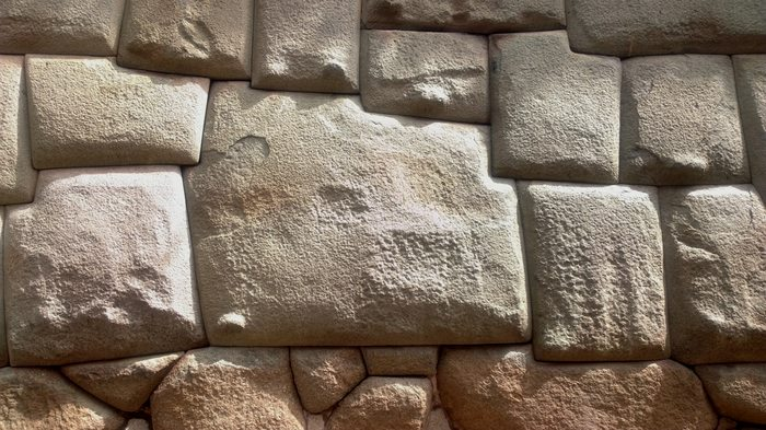 the famous  12-angle stone in Cusco