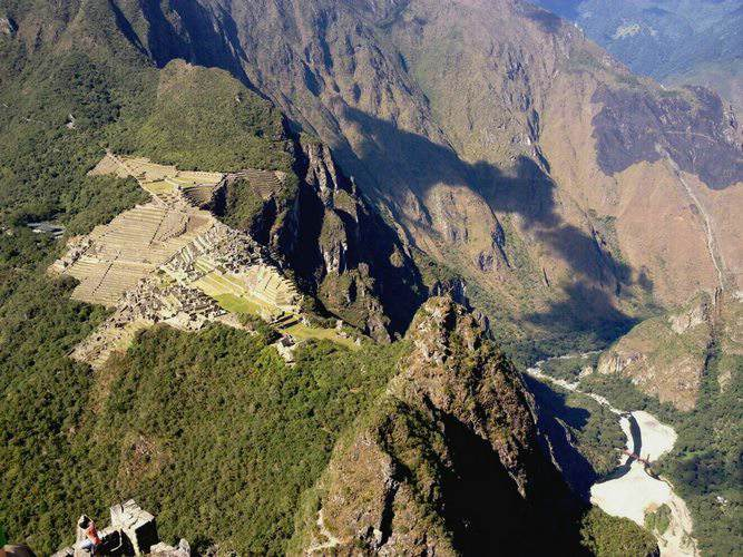 view of Machu Picchu fro Huayna Picchu