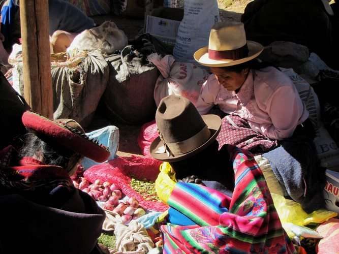 visiting the Chincero Market in the Sacred Valley