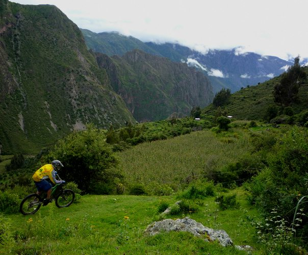 Biking in Cusco, Peru