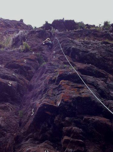 Rachael Taylor climbing in Cusco