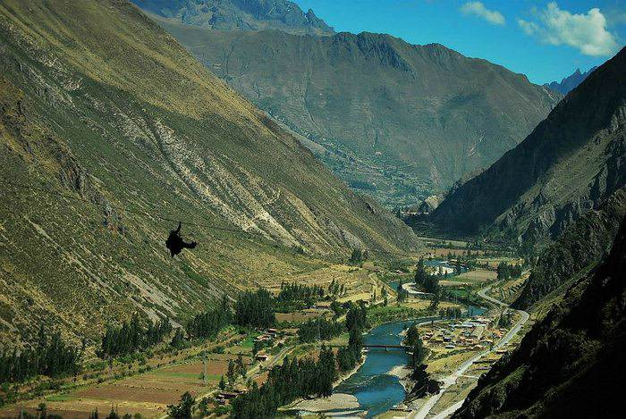 Ziplining in the Sacred Valley
