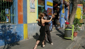 dancing tango in the streets of Buenos Aires