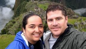 selfie at Machu Picchu