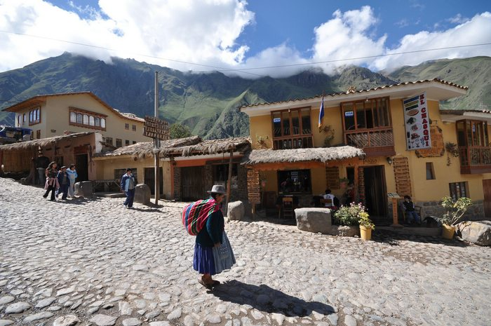 streets of Ollantaytambo in the Sacred Valley, Peru
