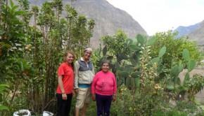 Kendra with her host in Cotahuasi in Peru