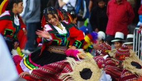 Cultural dancing in Cusco