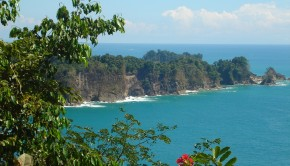 The view from the mountain tops of Manuel Antonio National Park