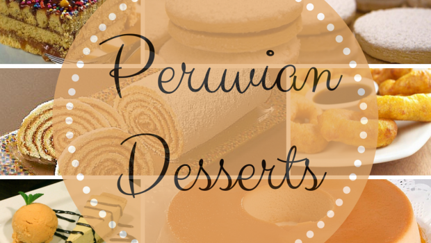 Collage of Peruvian desserts