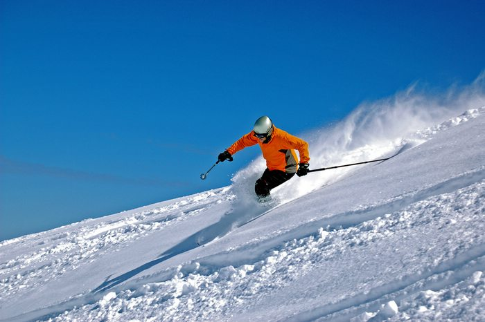 Skiing Valle Nevado in South America