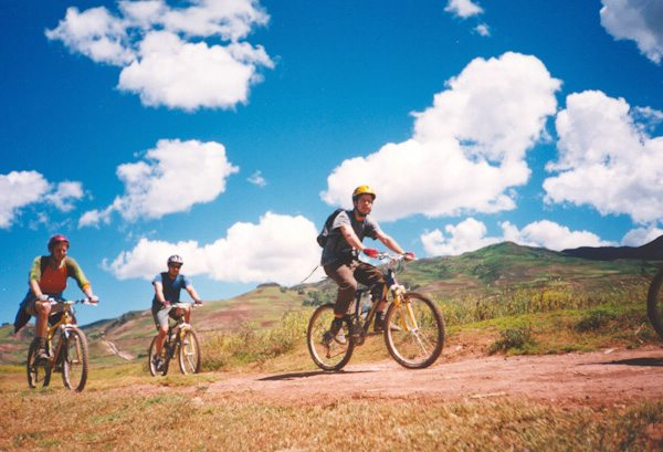 biking in Cusco