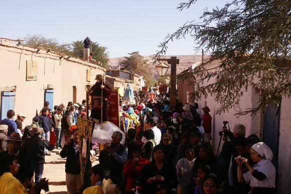 festivities in San Pedro de Atacama in Chile