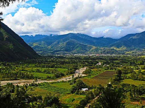 The town and surrounding countryside of Oxapampa, a German colony in the Peruvian Amazon.