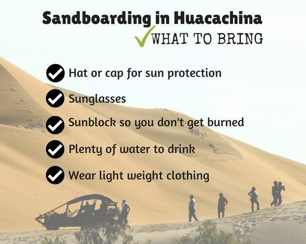 what to bring sandboarding