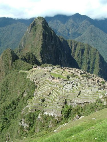 The mysterious ruins of Machu Picchu.