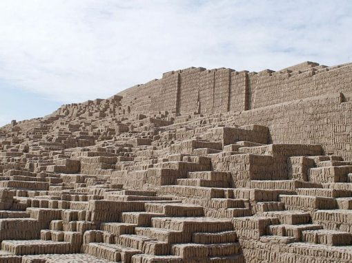 Huaca Pucllana, an adobe archaeological complex found in the Miraflores district of Lima.