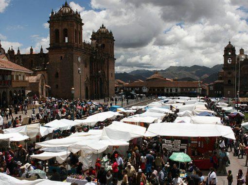 Santuranticuy (or Santurantikuy), a traditional Christmas Eve market in Cusco's Plaza de Armas.