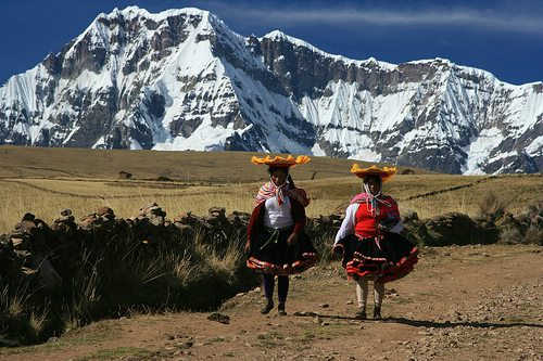 Women walking in the mountains