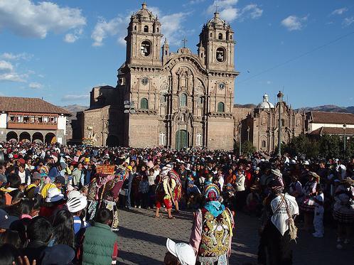 Corpus Christi festival in Cusco's Plaza de Armas
