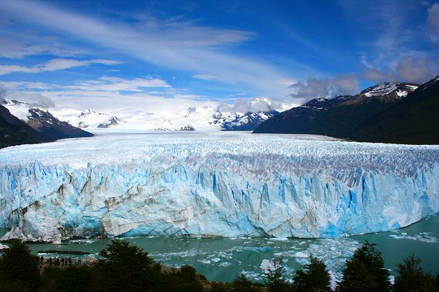 View of Perito Moreno Glacier in Patagonia.