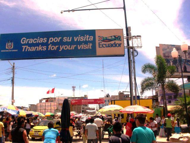The Ecuador border crossing