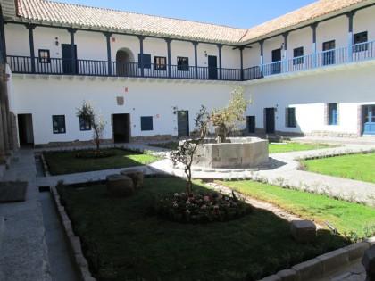 Palacio Nazarenas main courtyard