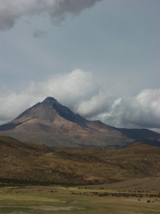 View of Bolivia's landscape from Kristina's jeep.