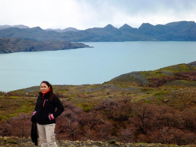 Silvana enjoying her vacation in Patagonia, Chile