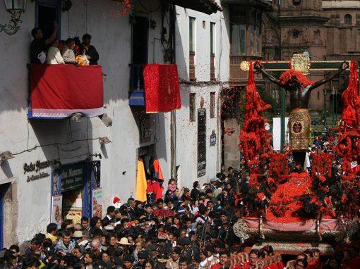 The Señor de los Temblores procession, an important semana santa tradition in Cusco.