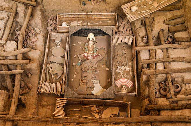 Oh, the riches! Lord of Sipan's burial under the ruins of Chiclayo is the richest tomb in the world. Photo by Sam Scholes