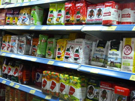 Akin to a breakfast cereals, the yerba mate aisle in an Argentine supermarket stretches the entire length and comes in myriad different brands, qualities, flavors, and sizes, from 1 kilo bags to individually wrapped tea bags