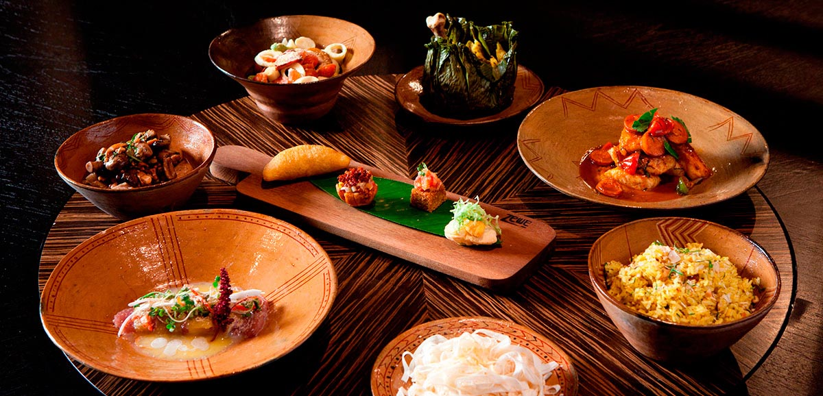 Intricately designed dishes with varied Amazonian food at Amaz restaurant in Lima.