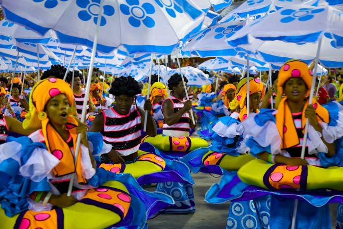 a parade a Rio Carnival