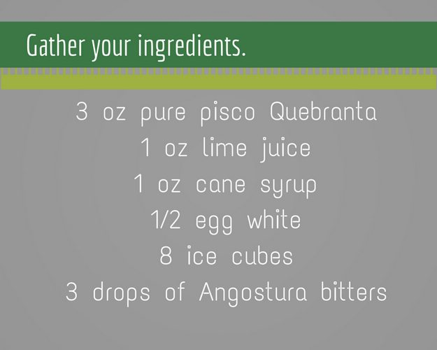 Pisco Sour Ingredients