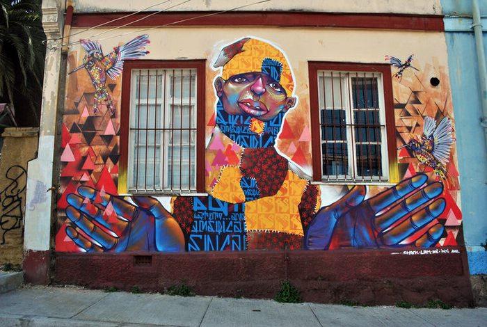 Street art by LRM
