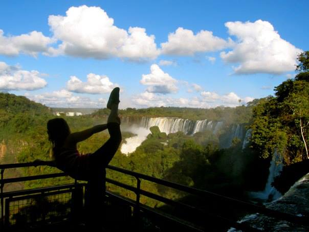 Kristina striking a pose in front of Iguazu Falls. All photos courtesy of Kristina M./Latin America For Less