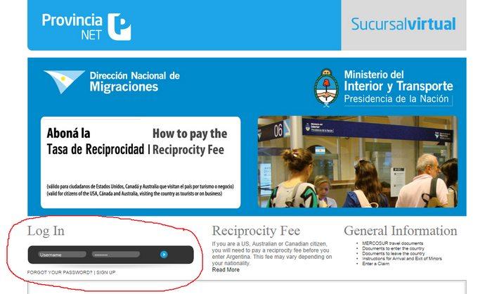 Argentina Reciprocity Fee 1
