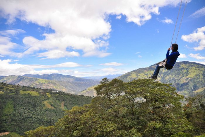 There's a swing for all ages in Ecuador. Photo from Sun-Surfer website