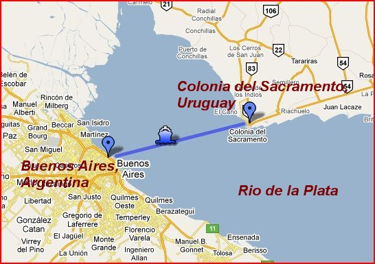 Buenos Aires to Colonia, Argentina For Less