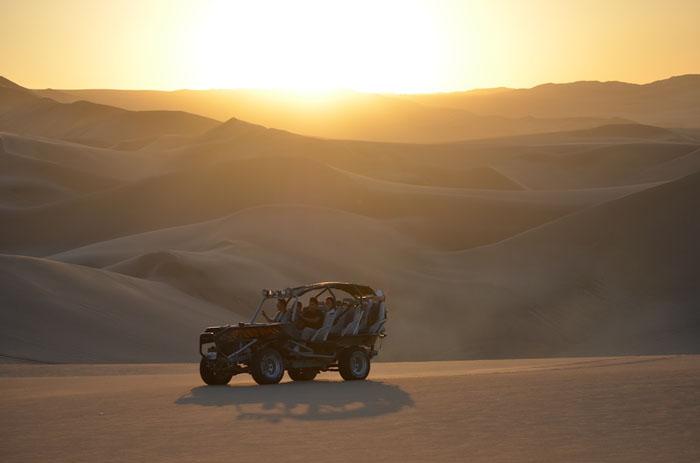 ica, dunes, sunset, peruforless
